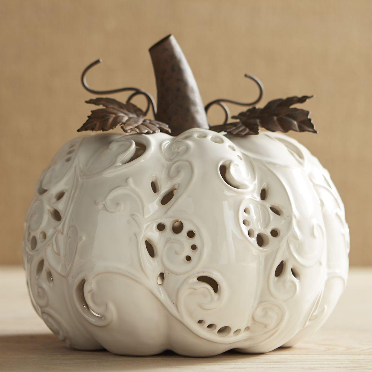 pier one owl vase of large ceramic ivory pumpkin tealight candle holder pier 1 imports pertaining to large ceramic ivory pumpkin tealight candle holder pier 1 imports