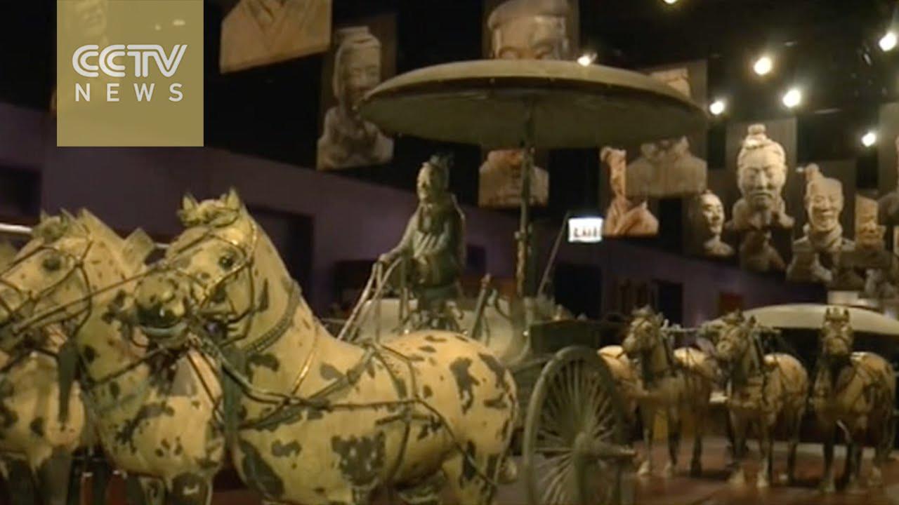 pier one terracotta vase of terracotta warriors on display in chicago youtube intended for terracotta warriors on display in chicago