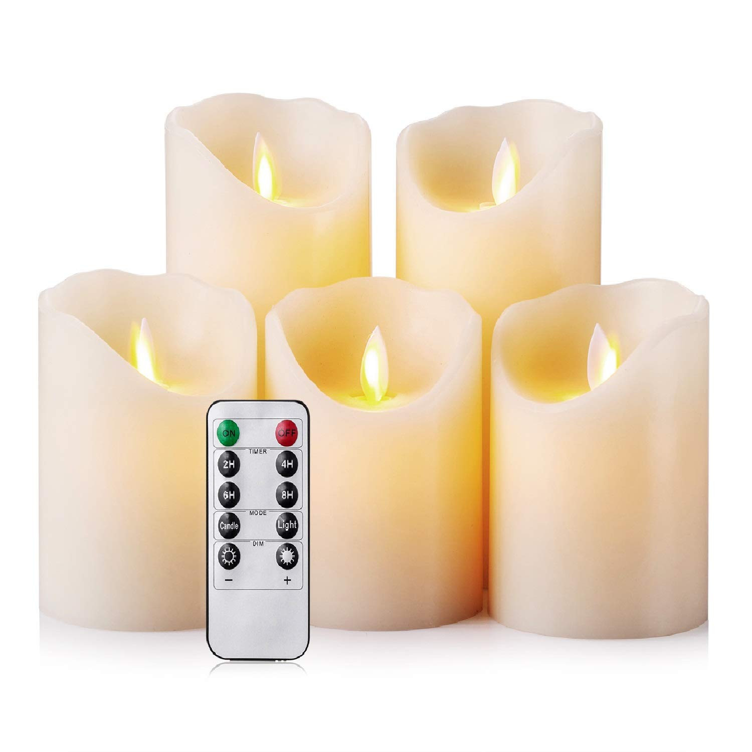 pillar candle vases bulk of amazon com flameless candles led candles realistic moving set of 5 inside amazon com flameless candles led candles realistic moving set of 5 ivory battery candles real wax pillar with 10 key remote control timer 2 4 6 8 hours