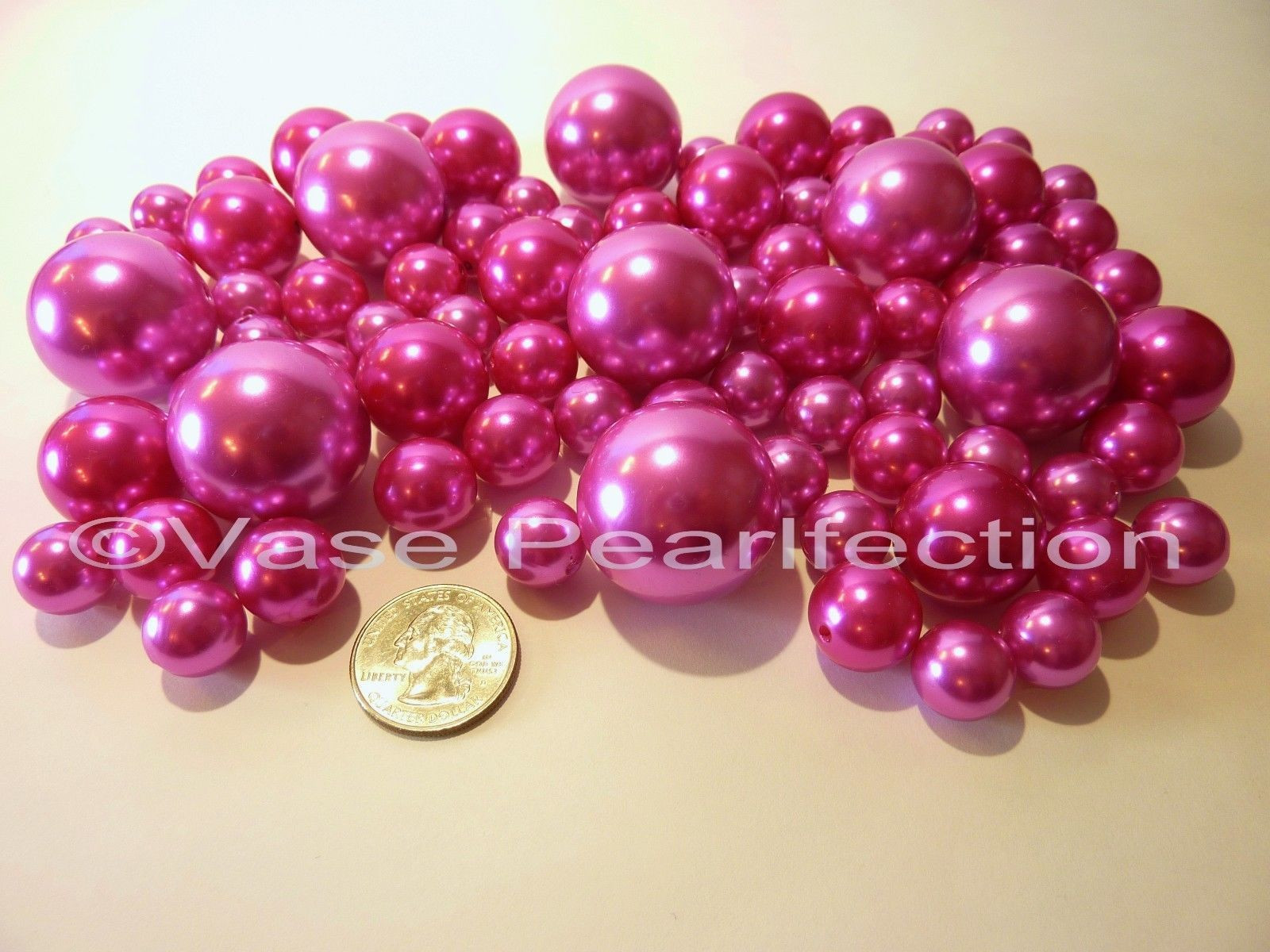 Pink Pearl Vase Fillers Of All Red Pearls Jumbo assorted Sizes Vase Fillers for Dec Inside Hot Pink Pearls Jumbo assorted Sizes for Vase Decorations Table Scatter
