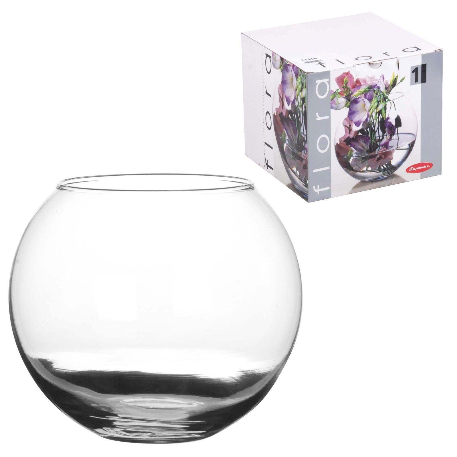 plastic bag flower vases of pasabahce glass 16cm round botanica flower vase display fish bowl within 16 cm fishbowl bubble ball bowl