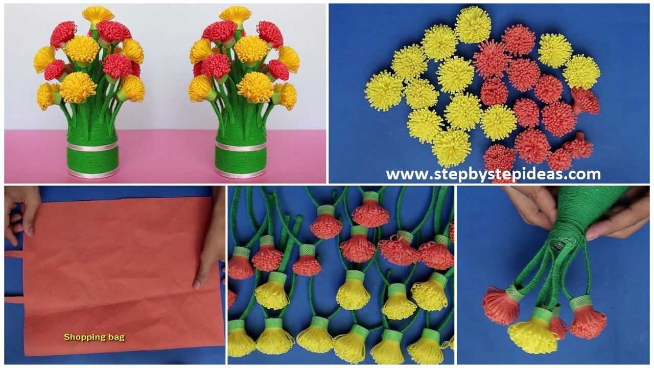24 attractive Plastic Bag Vase