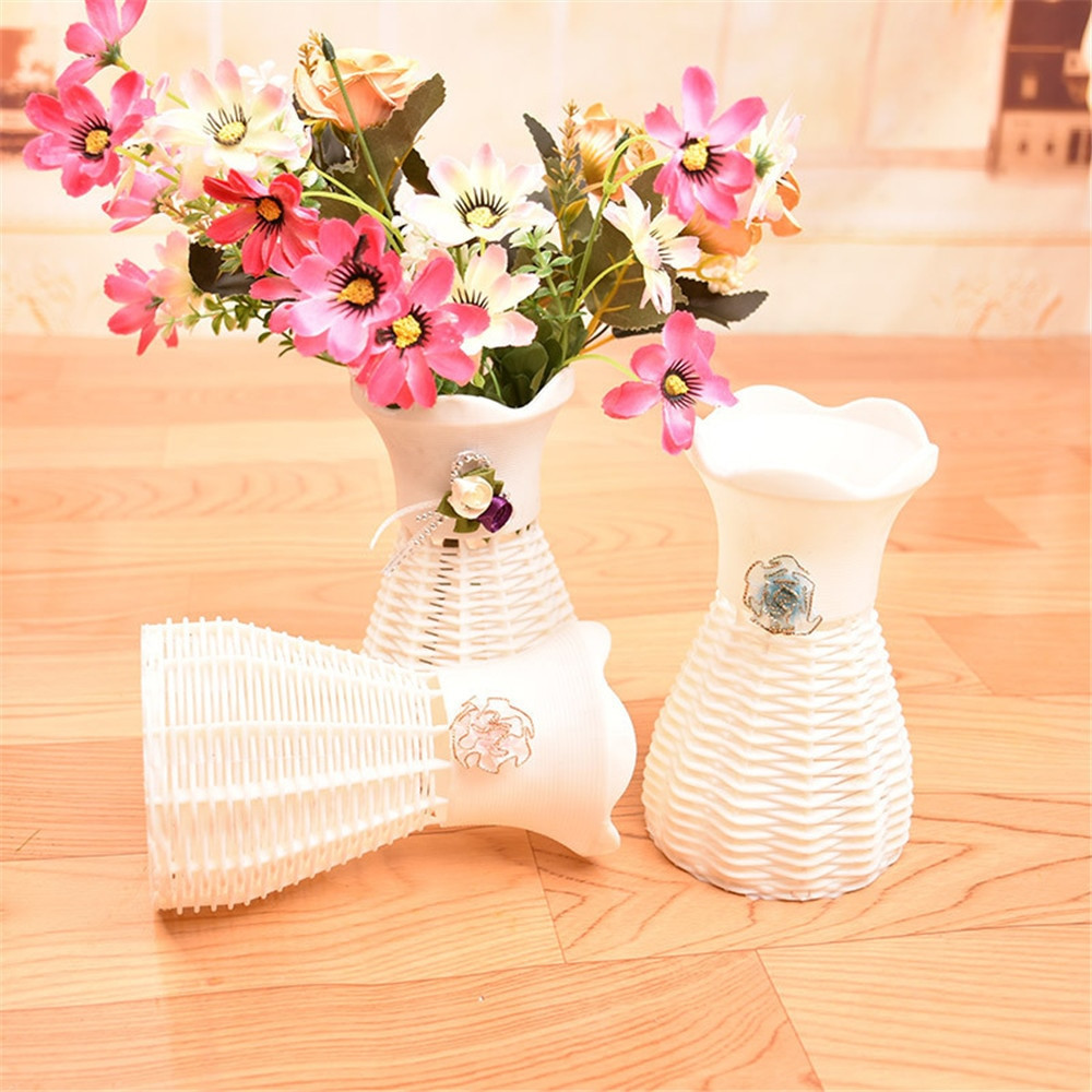 plastic foldable flower vase of 1 x cute pink blue straw shoe table basket dried flowers vase with throughout ishowtienda home decor nice rattan vase basket flowers meters orchid artificial flower set
