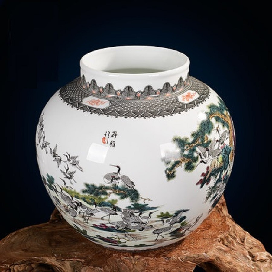 plastic urn vase of aliexpress com buy jingdezhen ceramic vases famous works art vases with aliexpress com buy jingdezhen ceramic vases famous works art vases 100 cranes collectibles high end gifts porcelain from reliable art vase suppliers on
