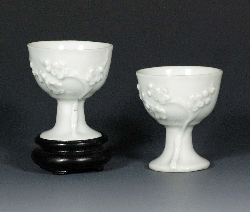 plum vases and bowls of white porcelain collection regarding chinese dehua blanc de chine pair of stem cups