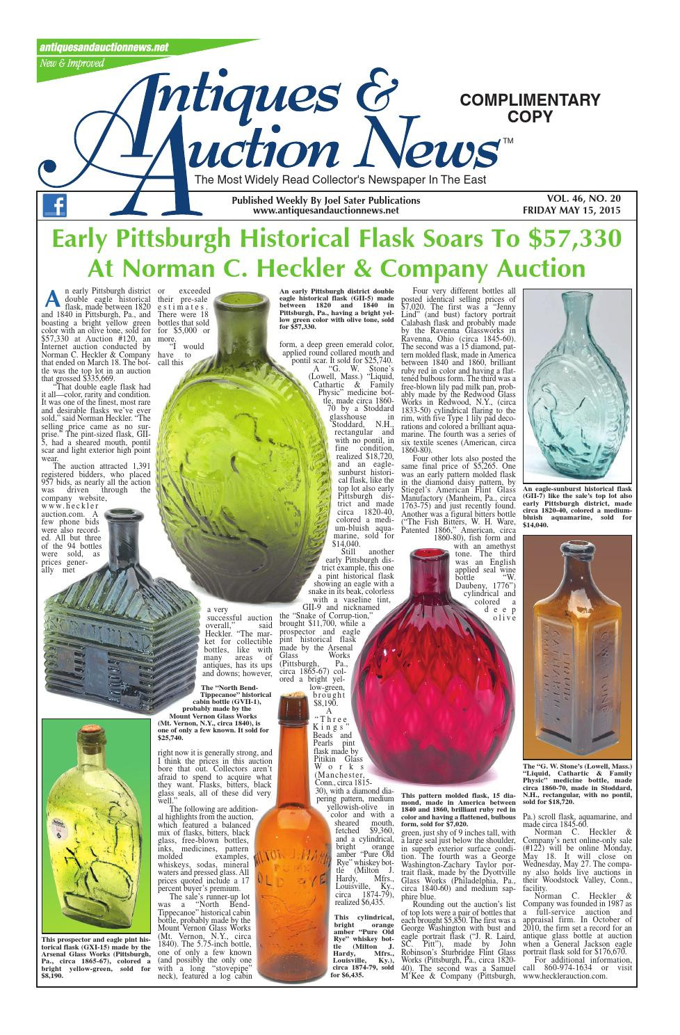 pottery barn sea glass vase filler of antiques auction news 051515 by antiques auction news issuu with regard to page 1