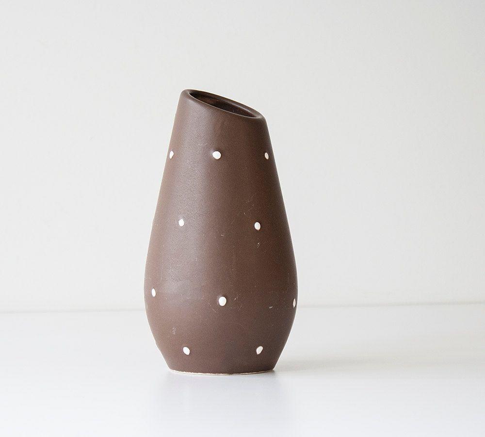 Pottery Craft Usa Vase Of Mid Century Modern Usa California Pottery Vase Chocolate Brown Throughout Mid Century Modern Usa California Pottery Vase Chocolate Brown by Kibster On Etsy