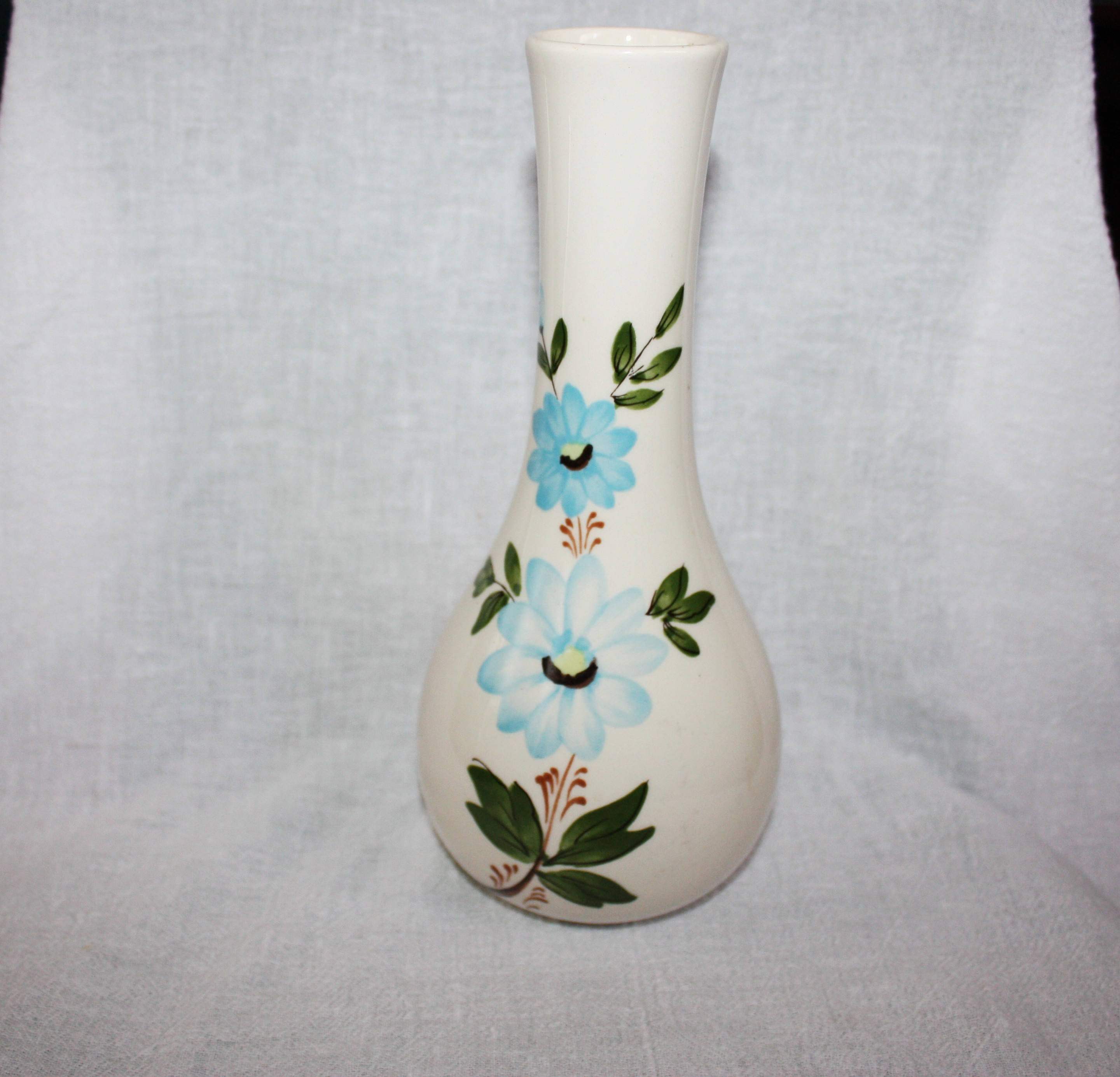 pottery craft usa vase of vintage 1979 sado portugal vase for ftda blue flowers etsy with regard to image 0