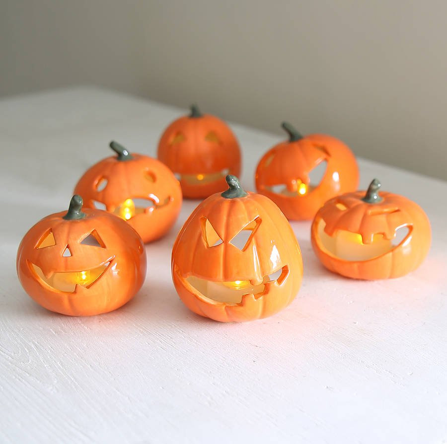 pumpkin vases for sale of halloween ceramic pumpkin with battery tea light by red lilly for halloween ceramic pumpkin with battery tea light