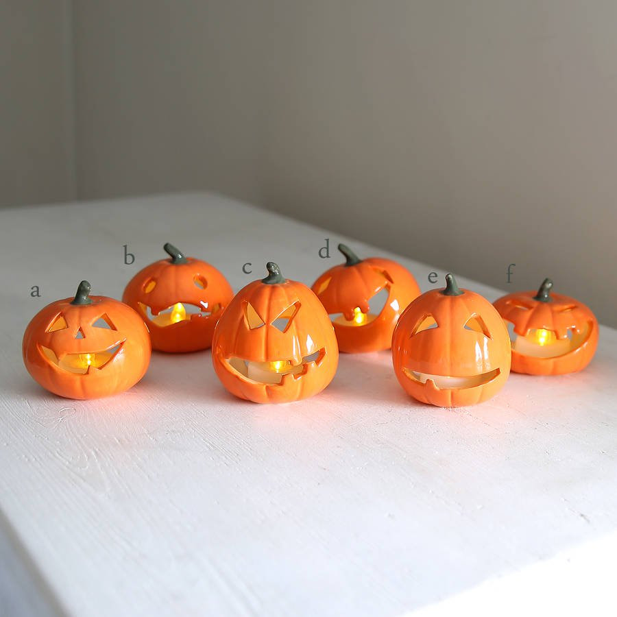 pumpkin vases for sale of halloween ceramic pumpkin with battery tea light by red lilly within halloween ceramic pumpkin with battery tea light