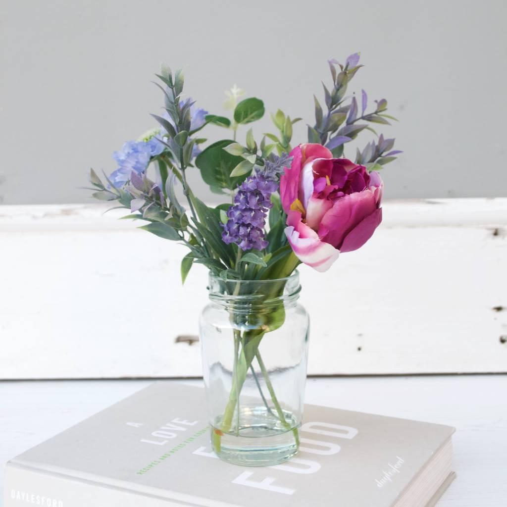 purple flowers bouquet in vase of faux tulip and lavender bouquet by abigail bryans designs regarding faux tulip and lavender bouquet