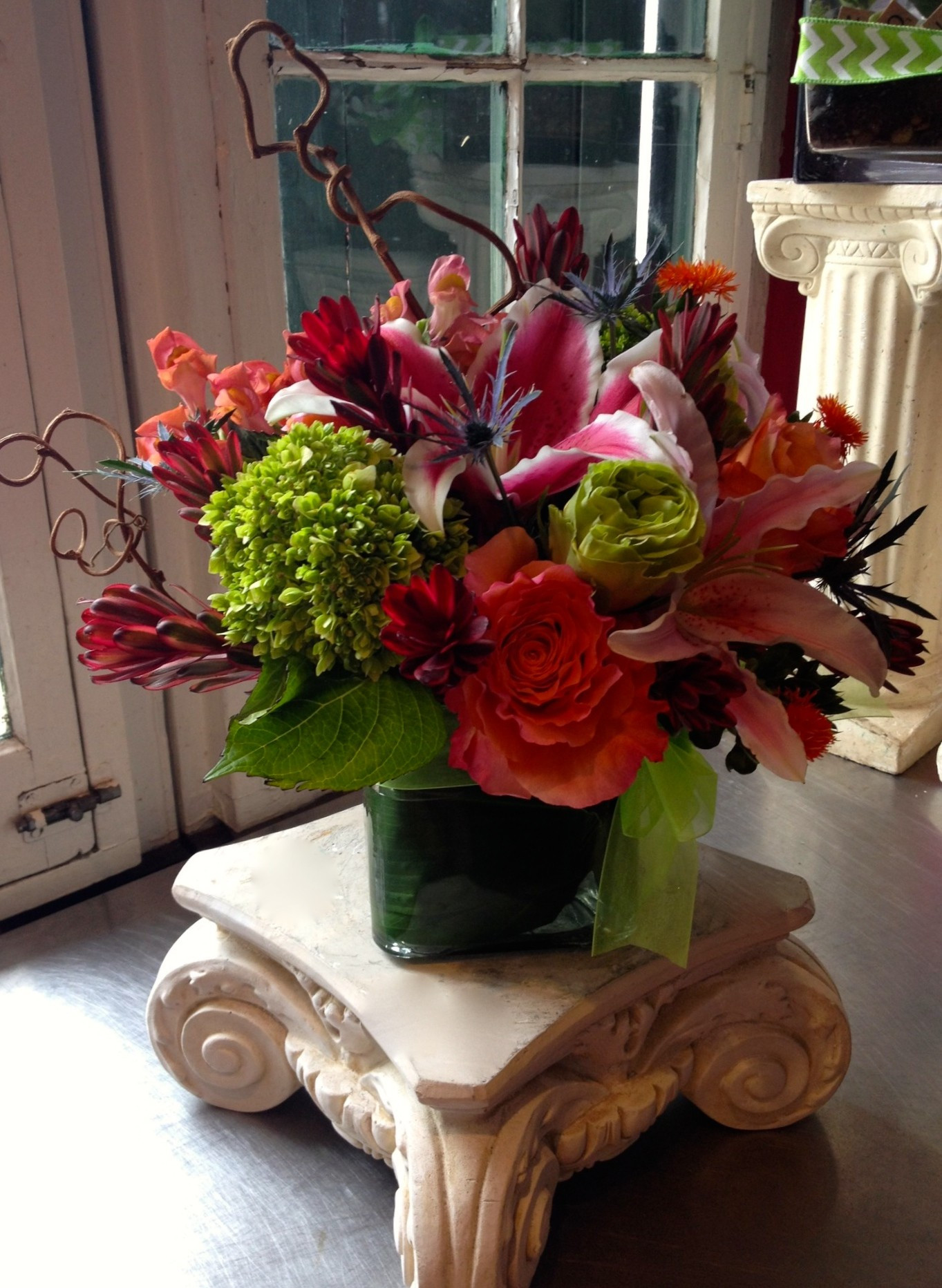 purple flowers bouquet in vase of new orleans florist flower delivery by flora savage throughout the frenchman street