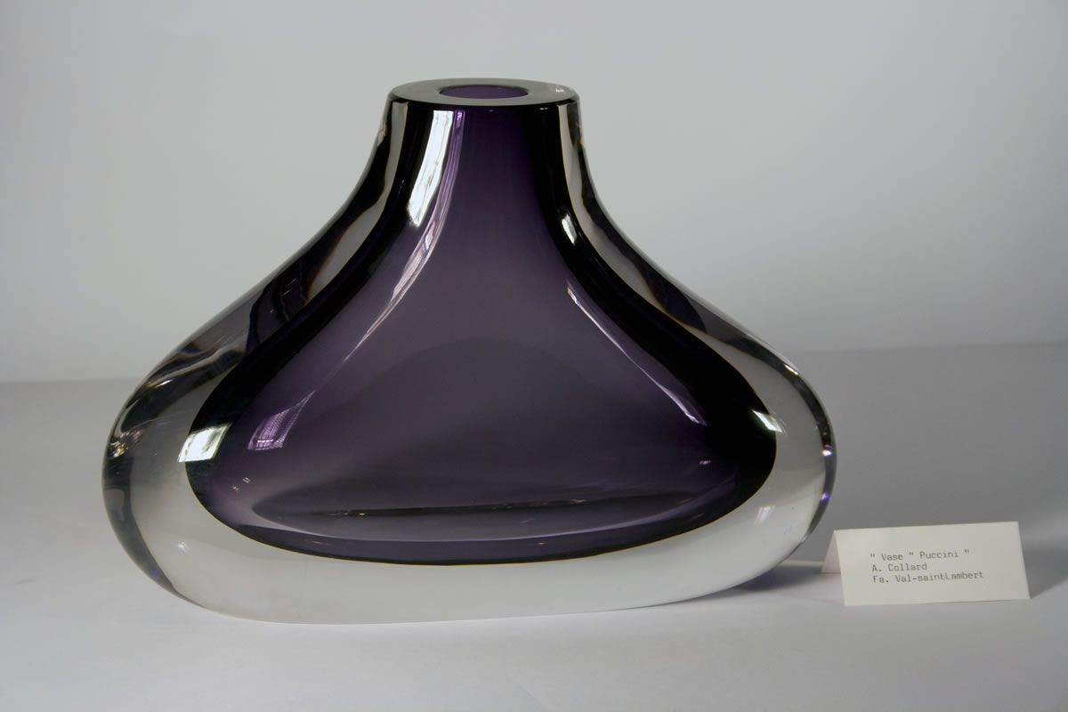 purple glass marbles for vases of val st lambert studio cristal vase puccini alfred collard for val st lambert studio cristal vase puccini alfred collard crystal