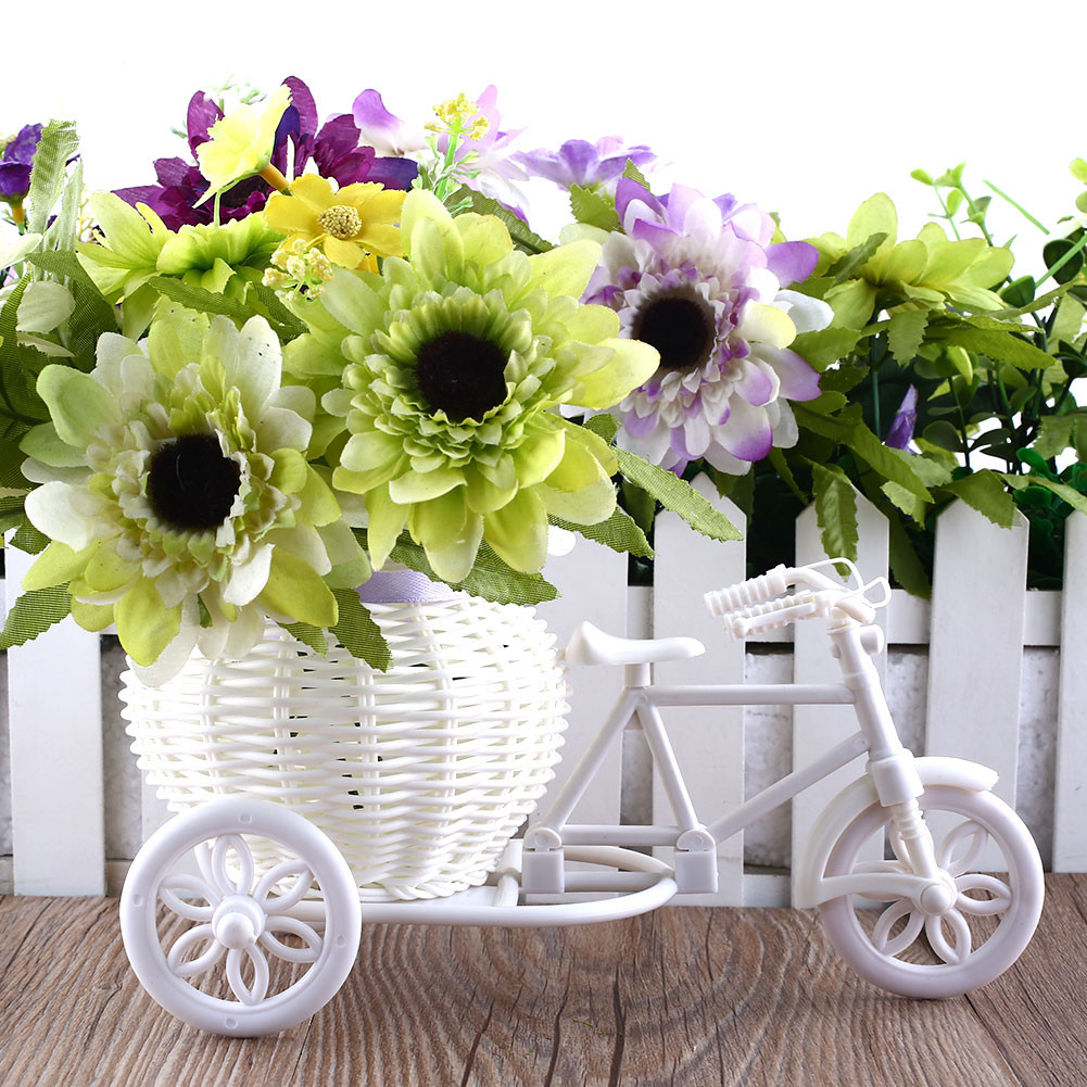 Pvc Pipe Vase Of 2017 Hot Sale New Plastic White Tricycle Bike Design Flower Basket Pertaining to 2017 Hot Sale New Plastic White Tricycle Bike Design Flower Basket Container for Flower Plant Home Weddding Decoration In Artificial Dried Flowers From