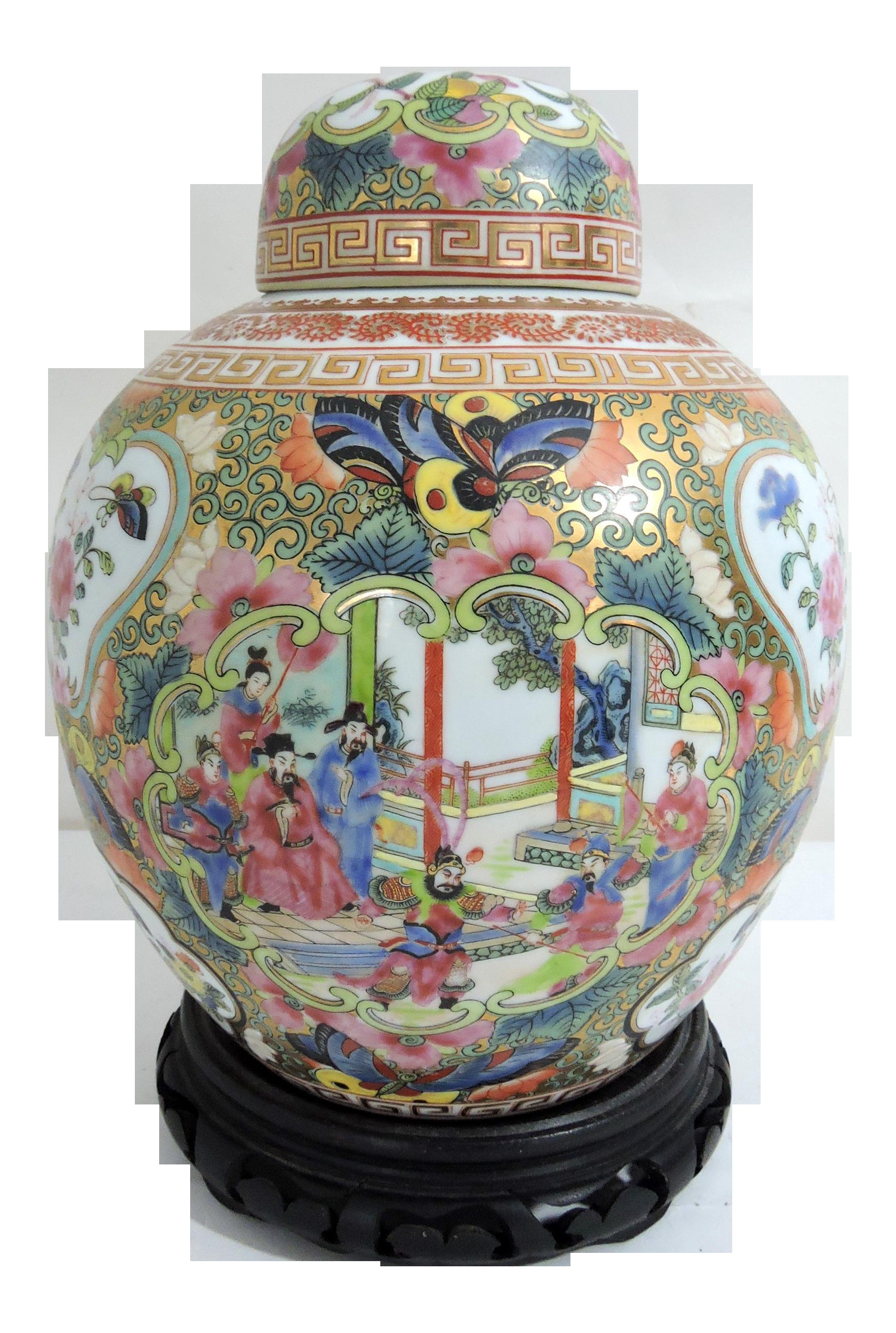qianlong vase value of chinese emperor and empress figures a pair on chairish c for early 20th century qianlong chinese ginger butterflies jar