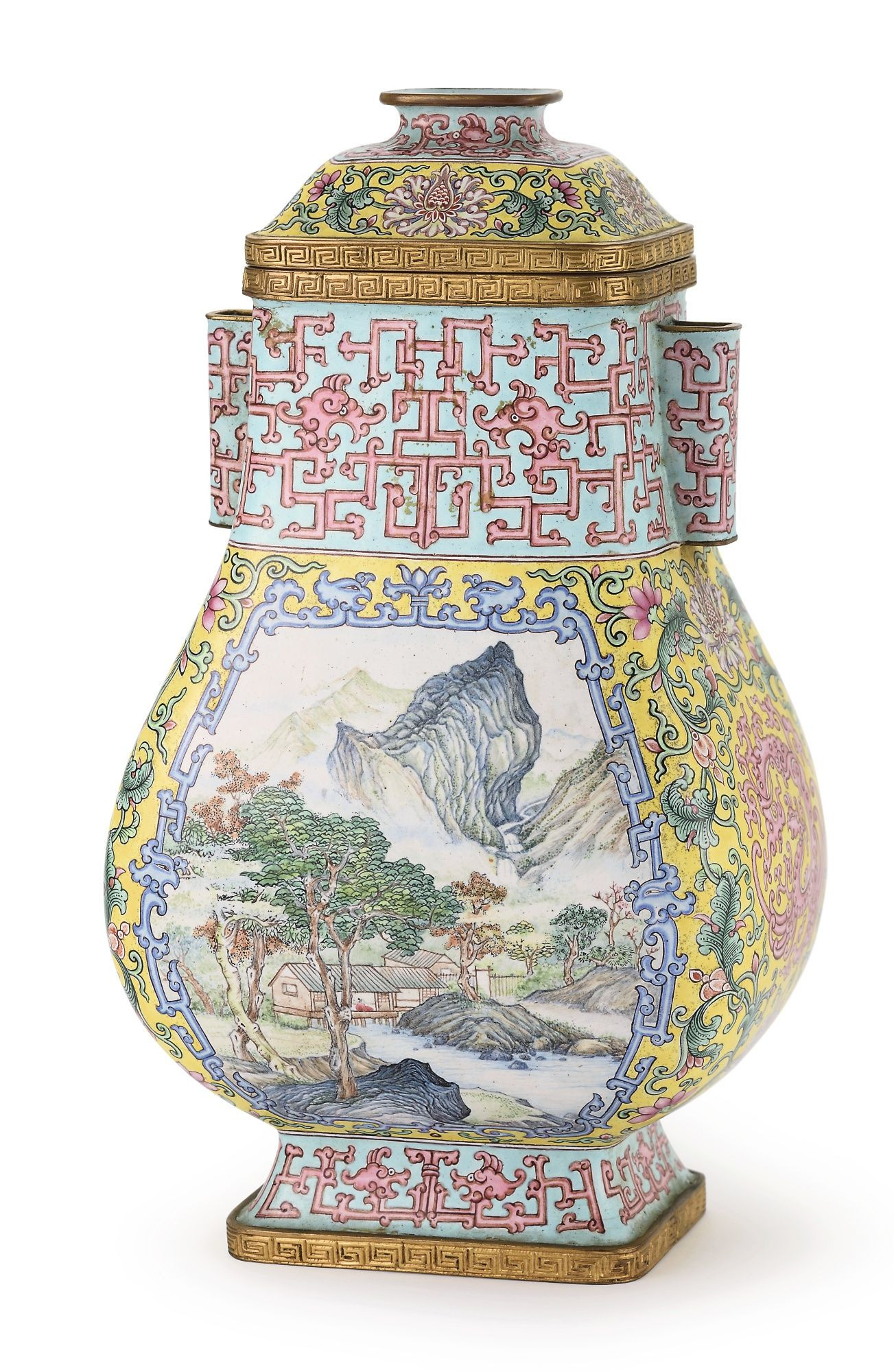 qianlong vase value of mindy t mindy jt pinterest account statistics in a yellow ground canton enamel landscape vase hu qing dynasty qianlong