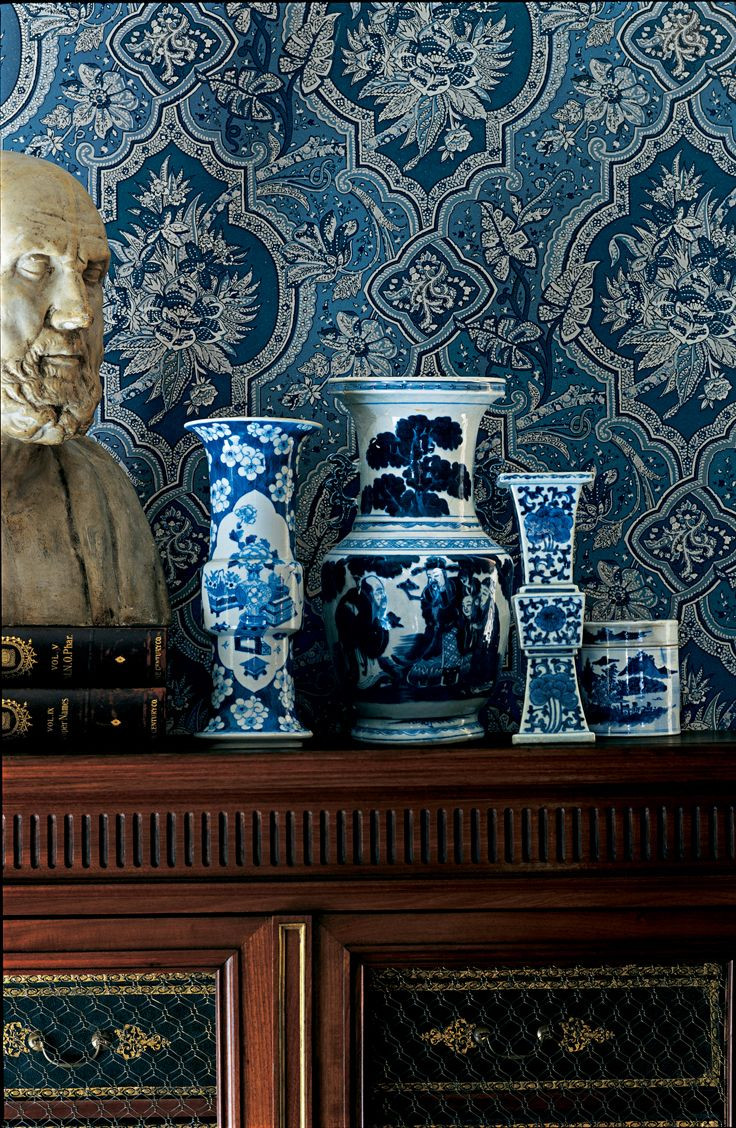 ralph lauren blue and white vase of 104 best kinai porcelan images on pinterest blue and white ginger intended for pattern mash up porcelain vases and floral wallpaper find harmony in their shared blue