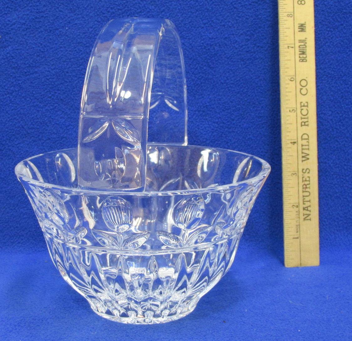 rcr crystal vase of block crystal tulip garden handled basket y3916 ebay inside s l1600