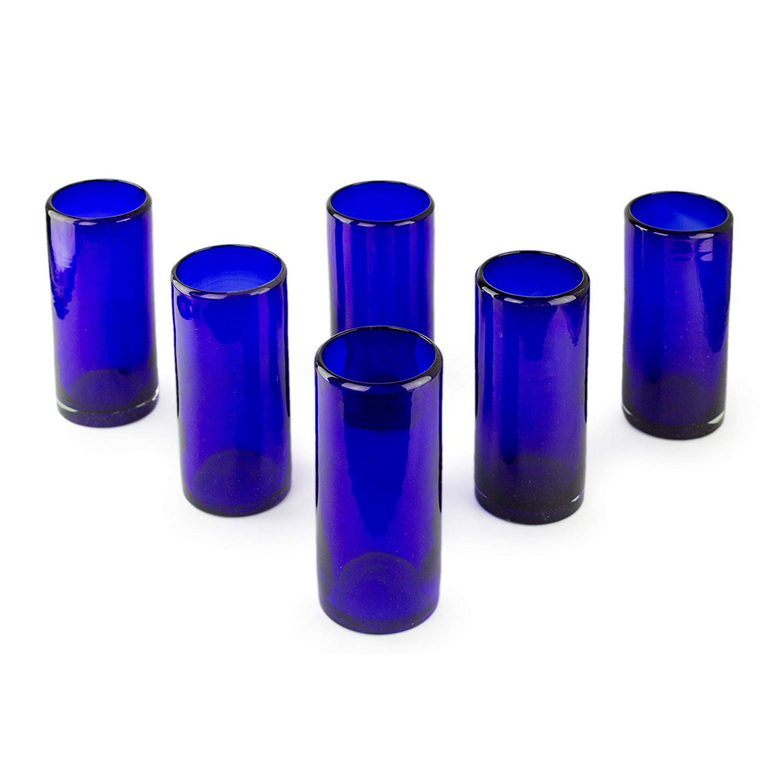 recycled spanish glass vases of amazon com novica artisan crafted dark blue recycled glass hand inside amazon com novica artisan crafted dark blue recycled glass hand blown cocktail glasses 13 oz pure cobalt set of 6 highball glasses