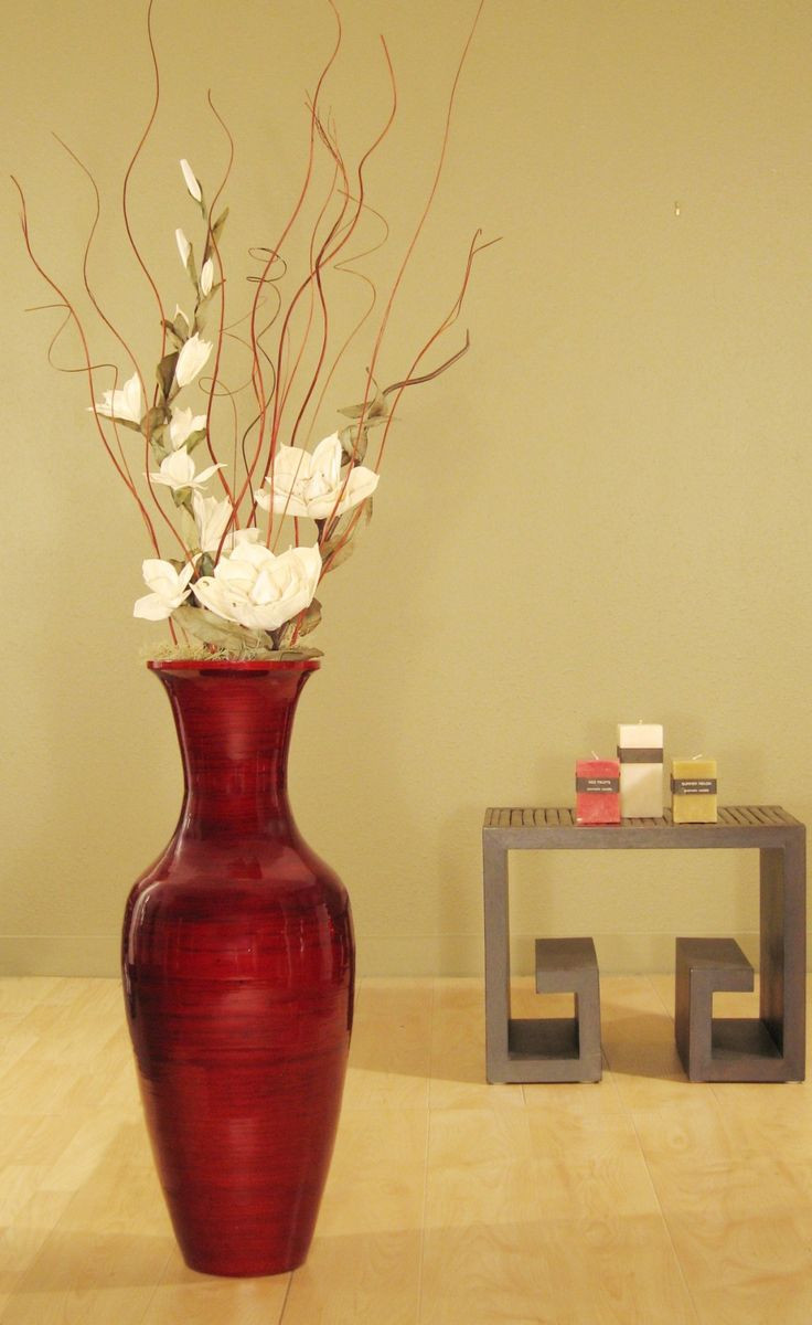 red bamboo floor vase of 47 best decoration images on pinterest chandeliers christmas deco inside accent your home decor with this bamboo floor vase and white magnolias complete with a