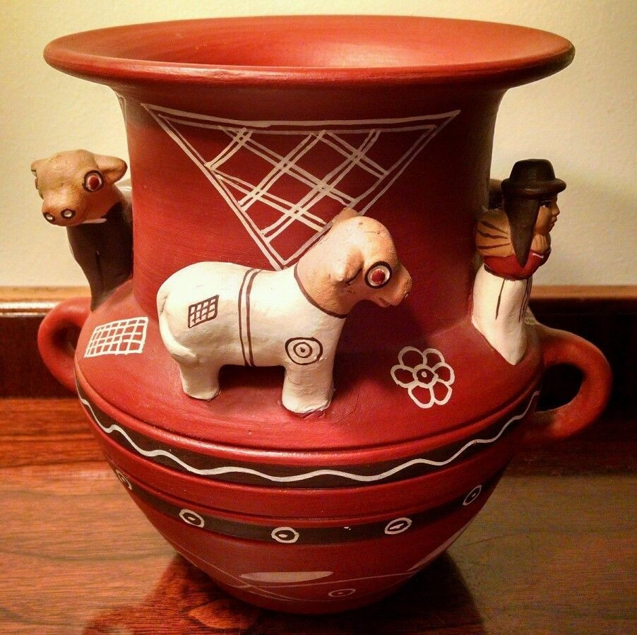 red clay pottery vases of peruvian folk art pottery terra cotta urn peru 3d milk cow farmers regarding peruvian folk art pottery terra cotta urn peru 3d milk cow farmers red clay vase 1 of 12only 1 available peruvian folk art pottery