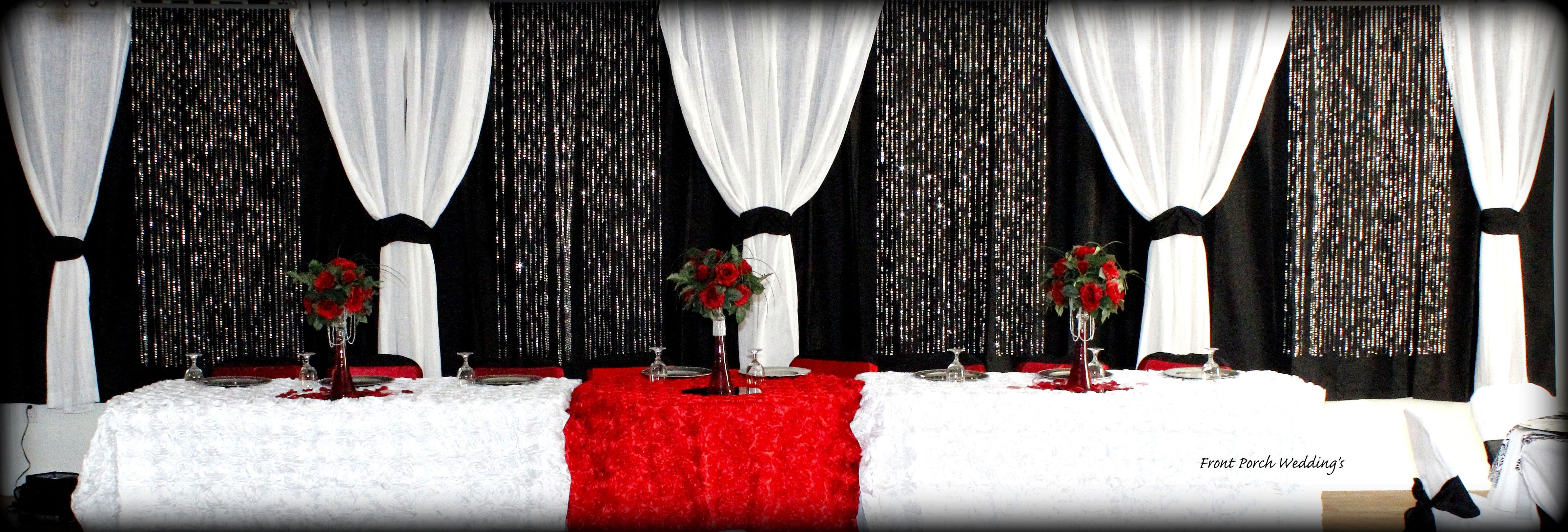 red eiffel tower vases of red black and white head table wedding centerpieces and floral pertaining to red black and white head table