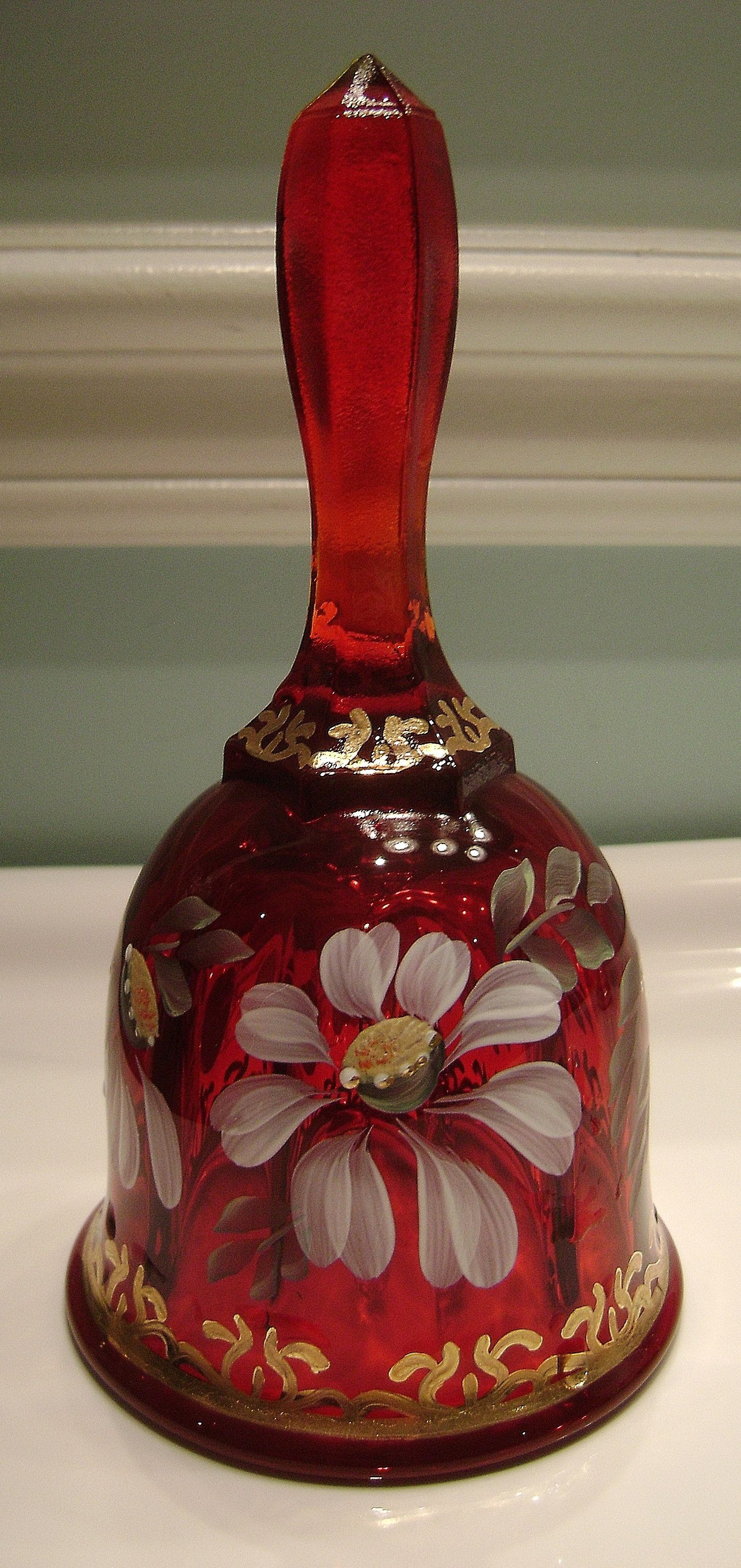 red fenton vase of fenton ruby 22k gold daisy bell sharons lovely fenton glass for fenton ruby 22k gold daisy bell