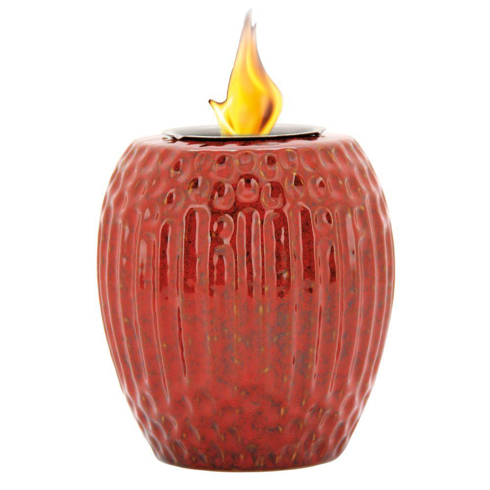red glass beads for vases of fire pots outdoor heating the home depot in ribbed fire pot in ruby red