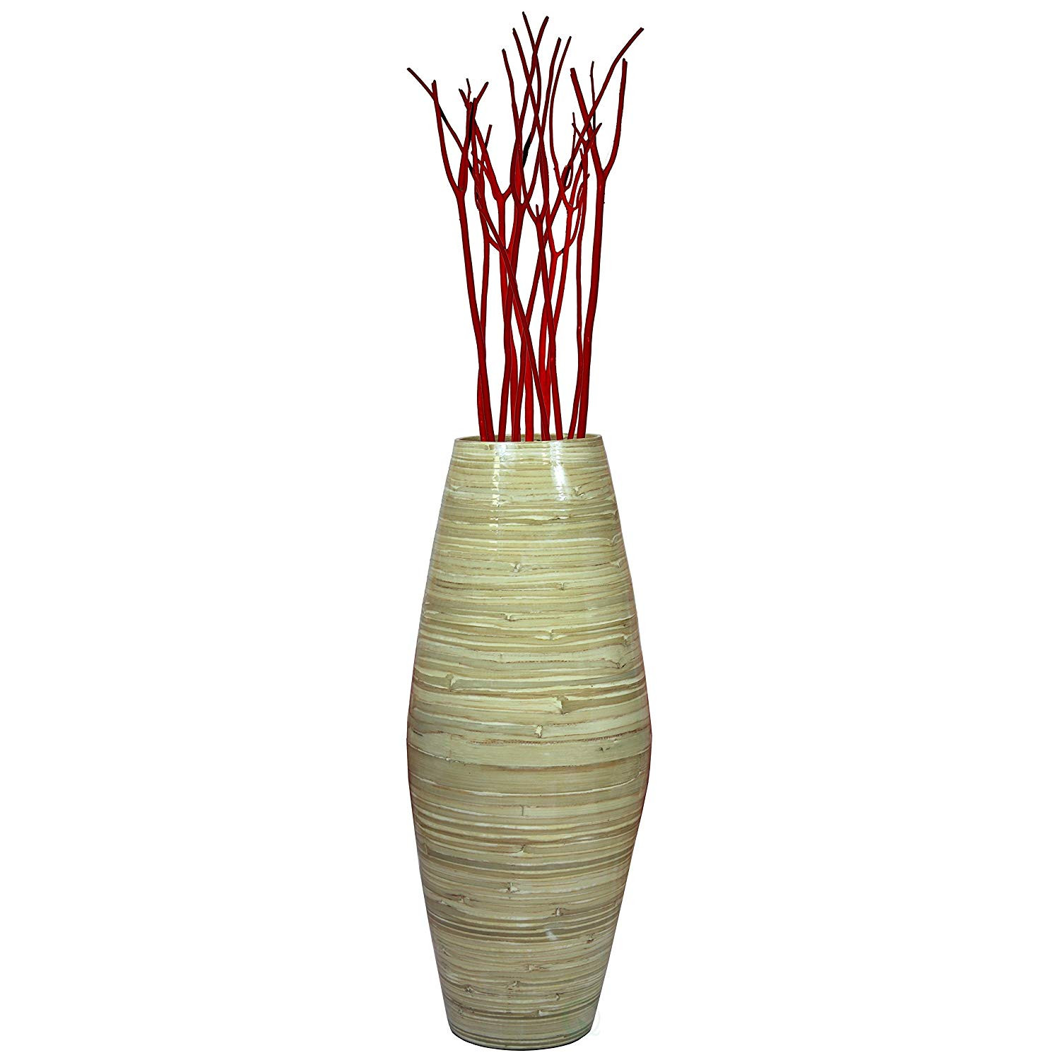 red glass floor vase of amazon com uniquewise 27 5 tall bamboo floor vase red home throughout amazon com uniquewise 27 5 tall bamboo floor vase red home kitchen
