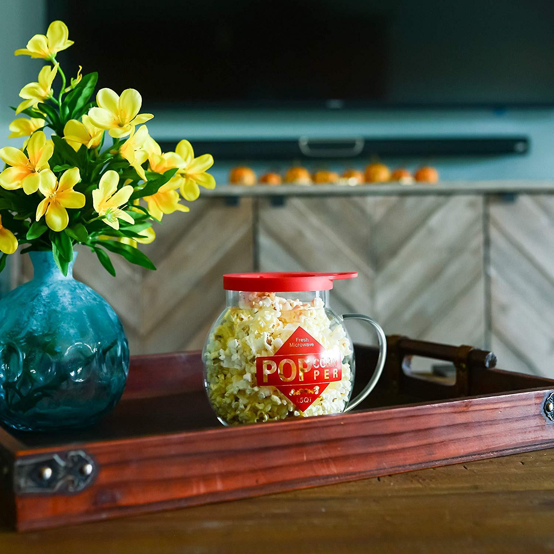 red glass heart shaped vase of amazon com galashield microwave popcorn popper 1 5qt temperature intended for amazon com galashield microwave popcorn popper 1 5qt temperature safe glass and silicone lid popcorn maker kitchen dining
