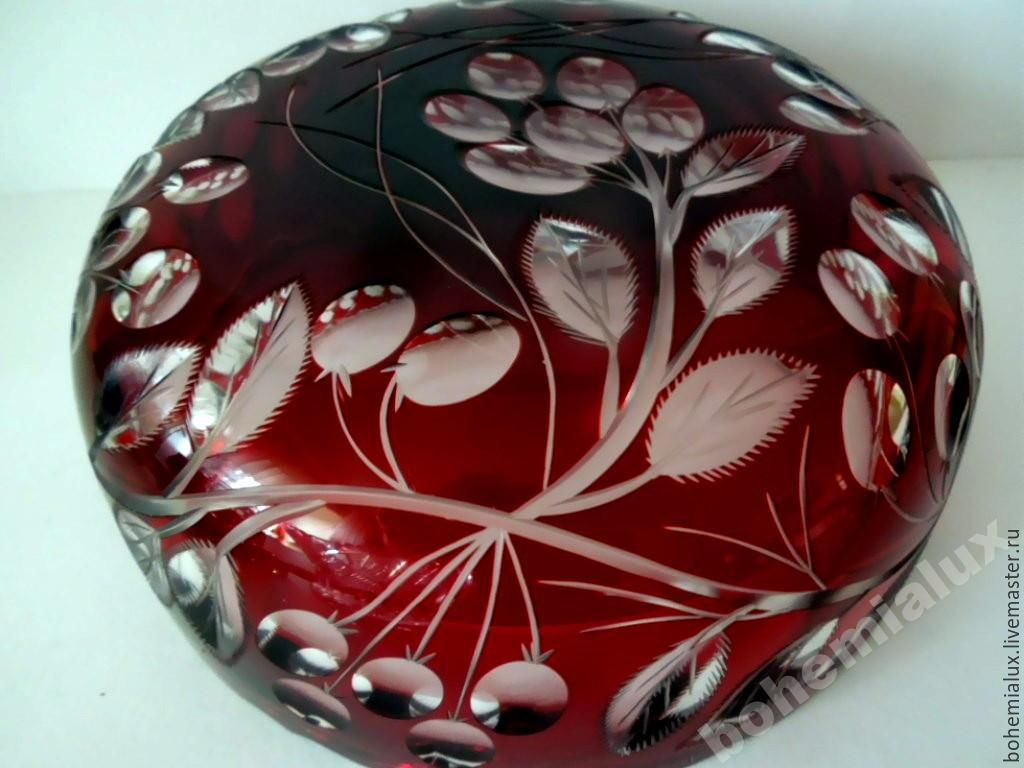 red glass vase of vase bowl red double layer glass meyrs neffe shop online on in vase bowl red double layer glass meyrs neffe bohemialux my livemaster