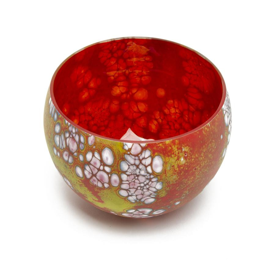 Red Glass Vases and Bowls Of Sensational Colors the Getty Store Intended for Medium Elemental Bowl David Royce Glass