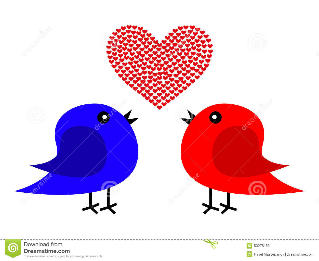 red heart shaped vase of two birds and heart stock illustration illustration of drawing with two birds and heart