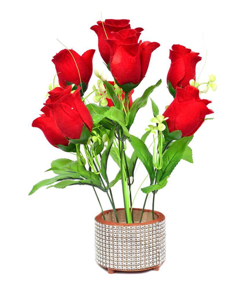 red roses in gold vase of yash enterprises flower pot with red rose buy yash enterprises with yash enterprises flower pot with red rose