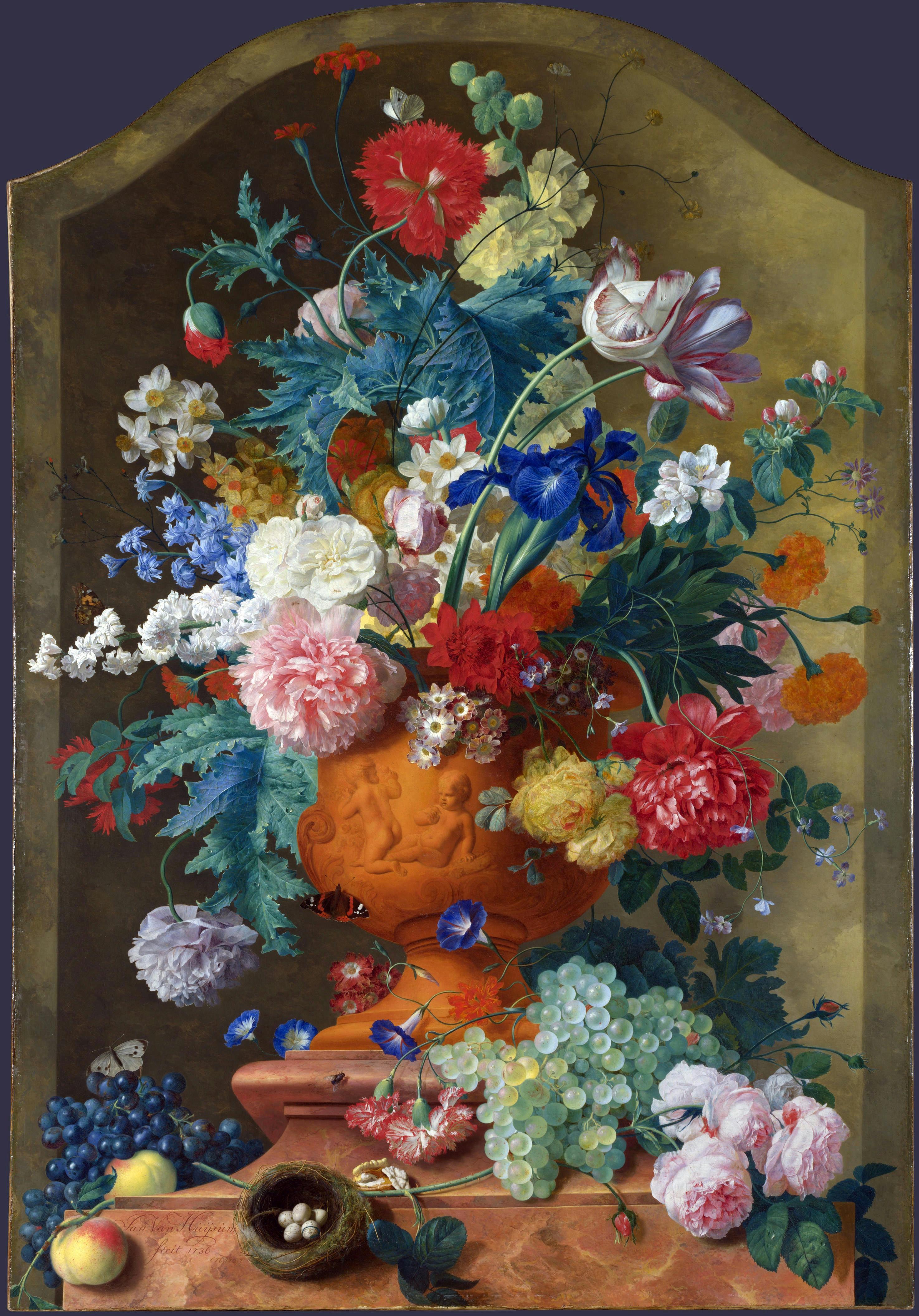 renoir vase of flowers of d–d¸d²d¾dd¸nnŒ dšddnnd¸dod d¶dd½n€d ddn'nŽn€d¼d¾n inside jan van huysum flowers in a terracotta vase