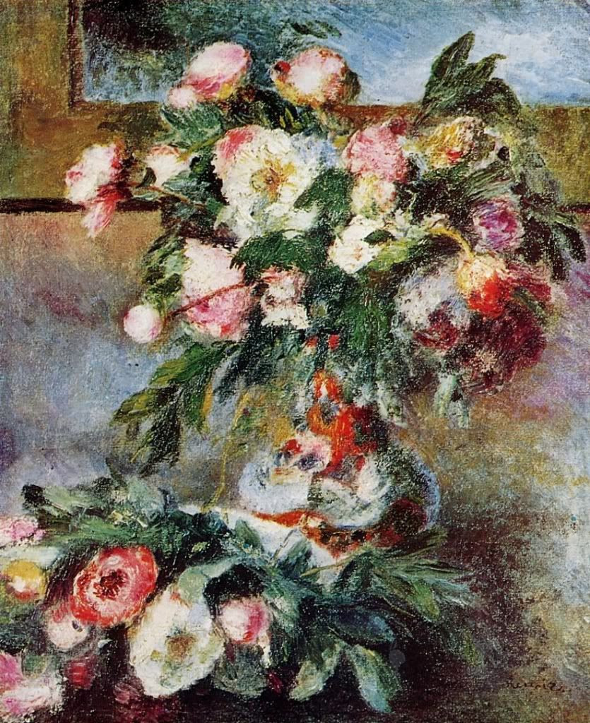 19 Great Renoir Vase Of Flowers