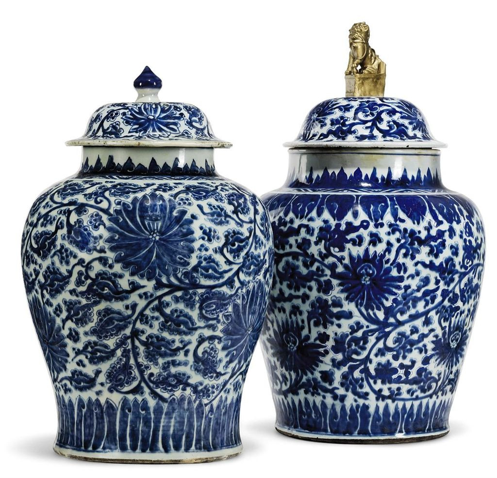 replacement bronze cemetery vases of http www christies com 2012 06 01 never 0 7 http www christies with two large chinese blue and white vases and covers kangxi period d5313035g