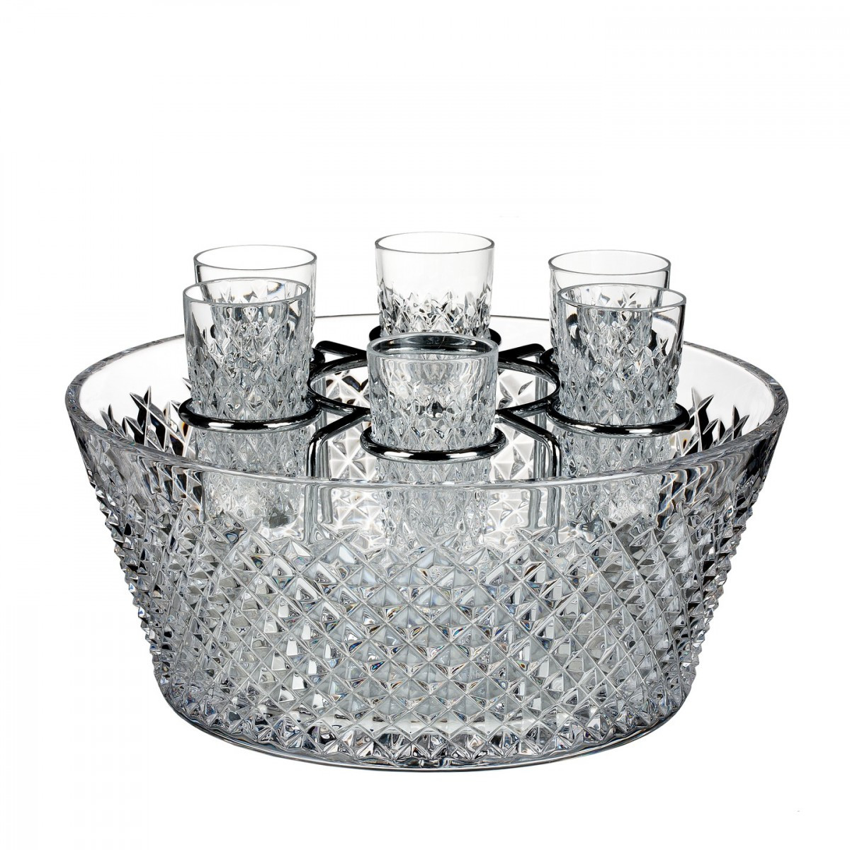 Retired Waterford Crystal Vase Patterns Of Alana 60th Anniversary Vodka Chiller with 6 Shot Glasses Limited In Alana 60th Anniversary Vodka Chiller with 6 Shot Glasses Limited Edition Of 260 Discontinued