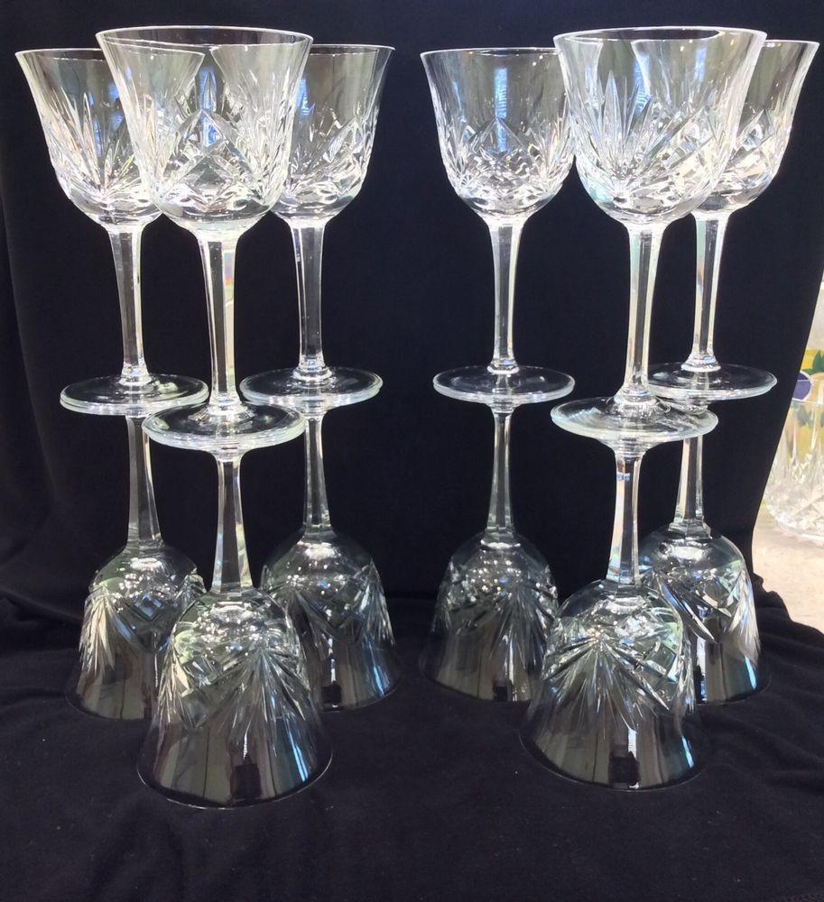 Retired Waterford Crystal Vase Patterns Of Set 12 Gorham Cherrywood Clear Vintage Cut Crystal Wine Glasses Intended for Set 12 Gorham Cherrywood Clear Vintage Cut Crystal Wine Glasses Goblets Gorham