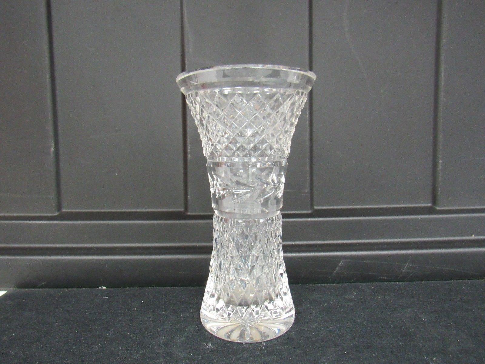 Retired Waterford Crystal Vase Patterns Of Vintage 6 Waterford Crystal Vase Glandore Diamond Laurel Pattern Regarding Vintage 6 Waterford Crystal Vase Glandore Diamond Laurel Pattern 2978k