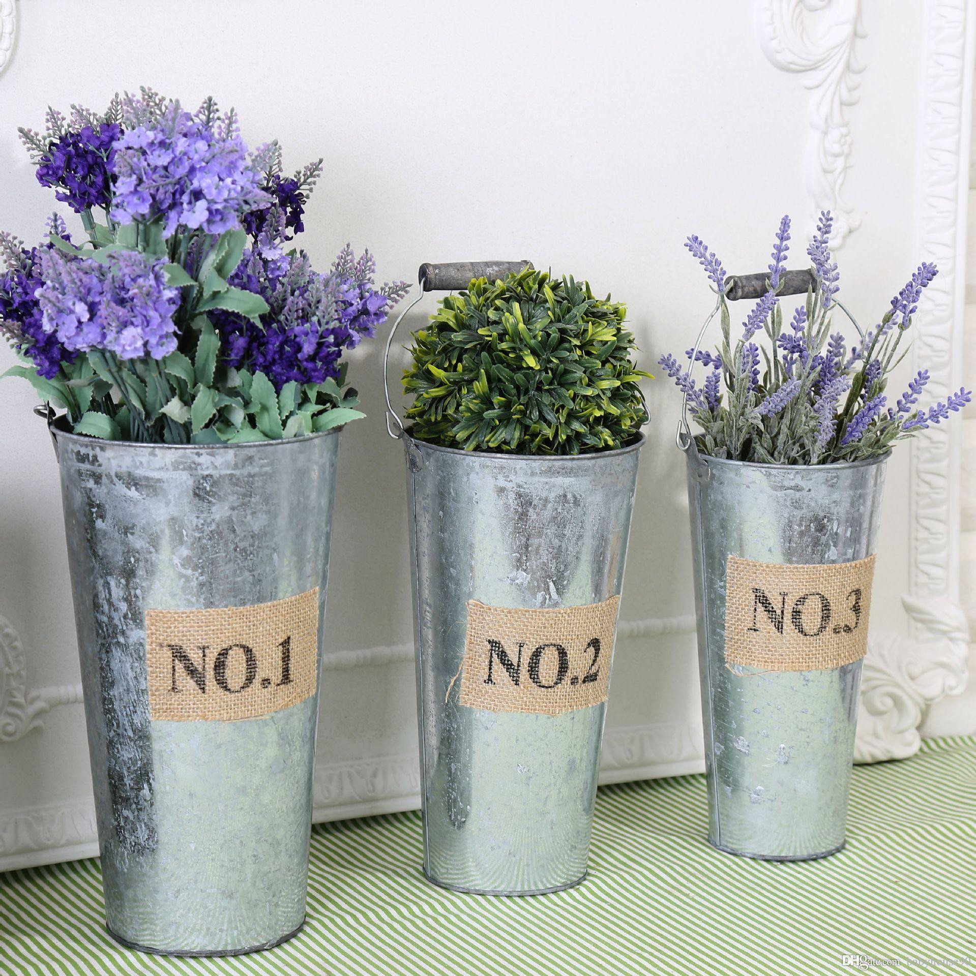 Retro Vases for Sale Of 2018 Garden Pots Retro Succulent Plant Buckets Planter Metal Pertaining to 2018 Garden Pots Retro Succulent Plant Buckets Planter Metal Flowerpot Vintage Rustic Nostalgia Container Vase Desktop Storage Decor 12 8wx3 R From