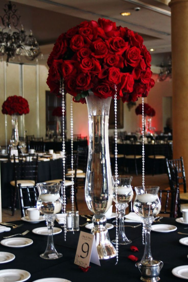 reversible latour trumpet glass vase of tall red rose wedding centerpieces beautiful red rose centerpieces throughout tall red rose wedding centerpieces beautiful red rose centerpieces dripping in bling adorned each table