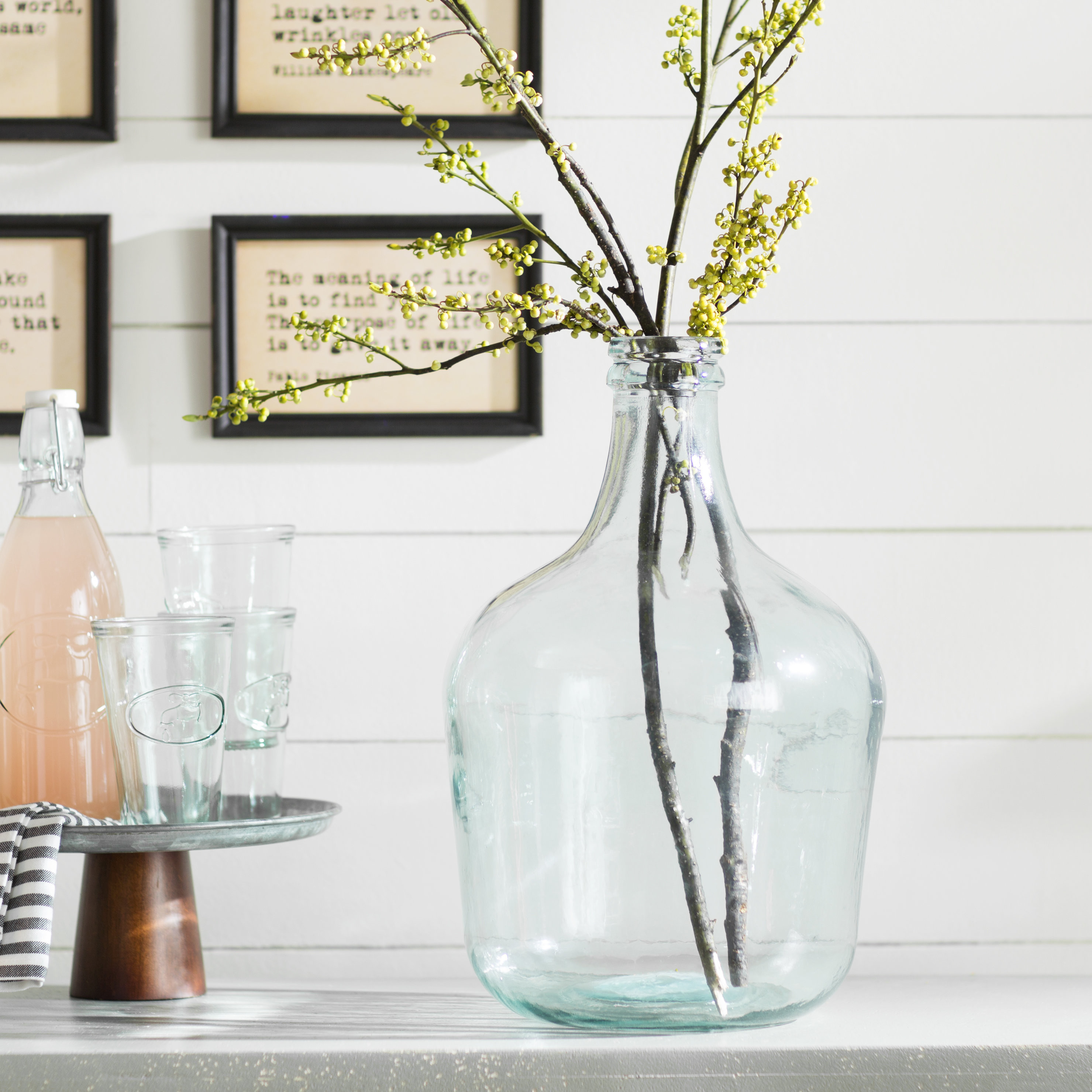 ribbed mercury glass vase of laurel foundry modern farmhouse parisian bottle glass table vase in laurel foundry modern farmhouse parisian bottle glass table vase reviews wayfair ca