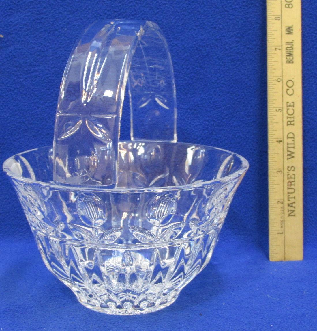 Rogaska Crystal Vase Patterns Of Block Crystal Tulip Garden Handled Basket Y3916 Ebay Throughout S L1600