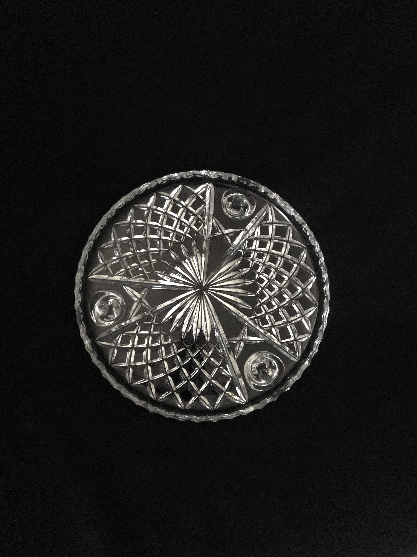 "Rogaska Crystal Vase Patterns Of Elegant Cut Lead Crystal Round Footed Cake Plate Etsy Regarding DŸ""Žzoom"