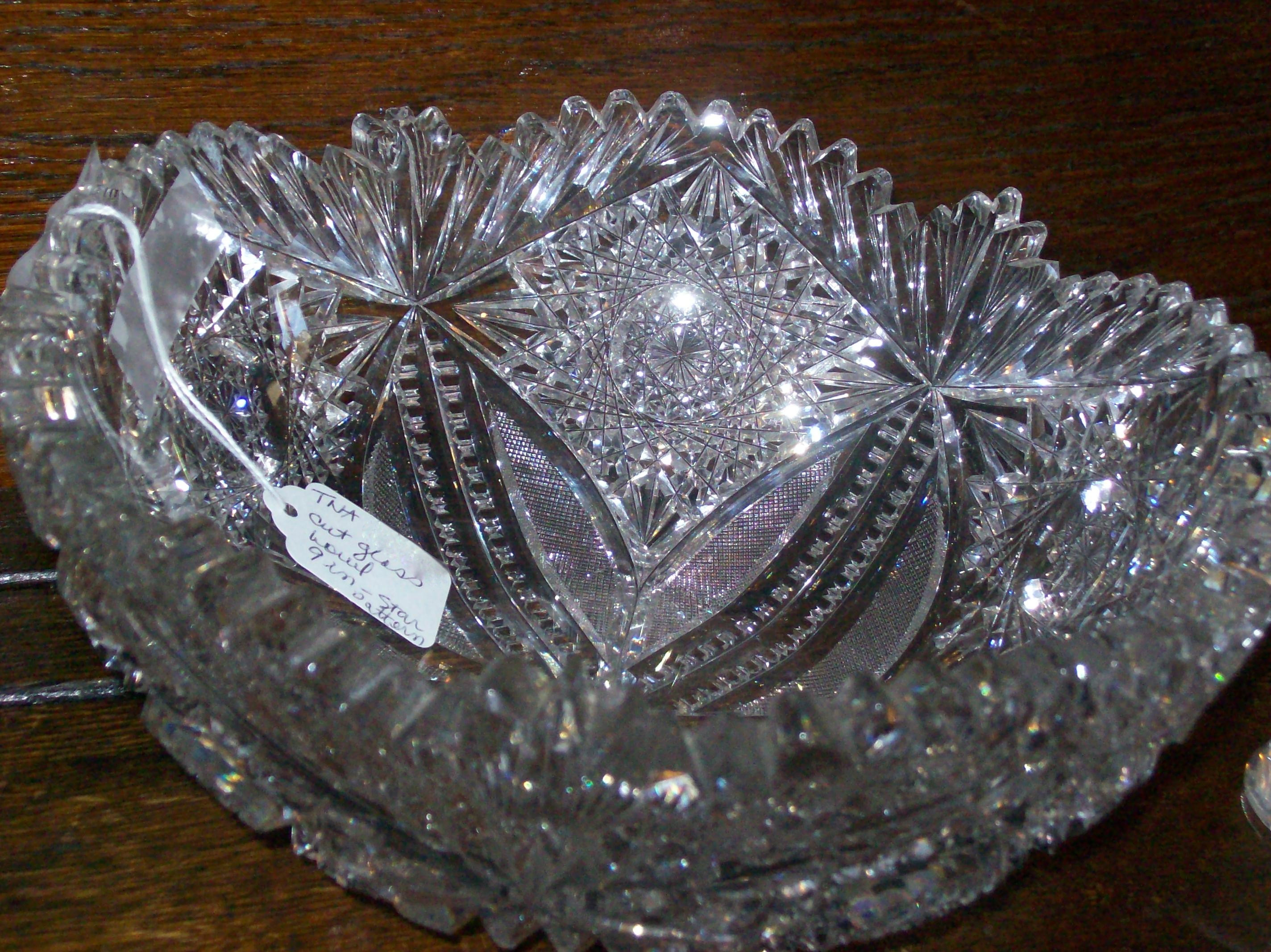 Rogaska Crystal Vase Patterns Of is It Pressed Glass or Cut Glass Janvier Road where Old Becomes with 9 Star Pattern American Brilliant Bowl Photo Courtesy Of Treehouse Antiques