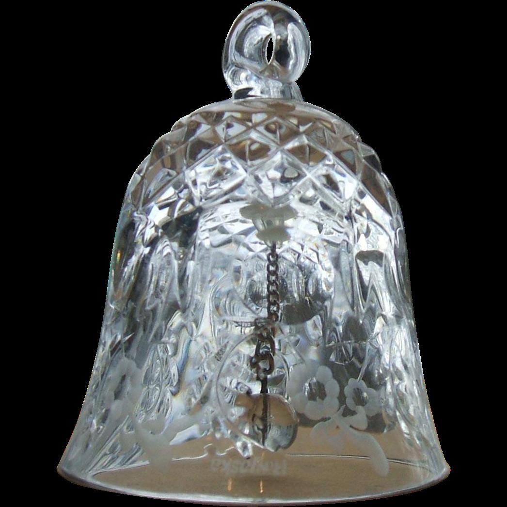 Rogaska Crystal Vase Patterns Of Rogaska Gallia Crystal Small Bell Christmas ornament Signed Regarding Be35e549038f518beda13f2e4201a84d