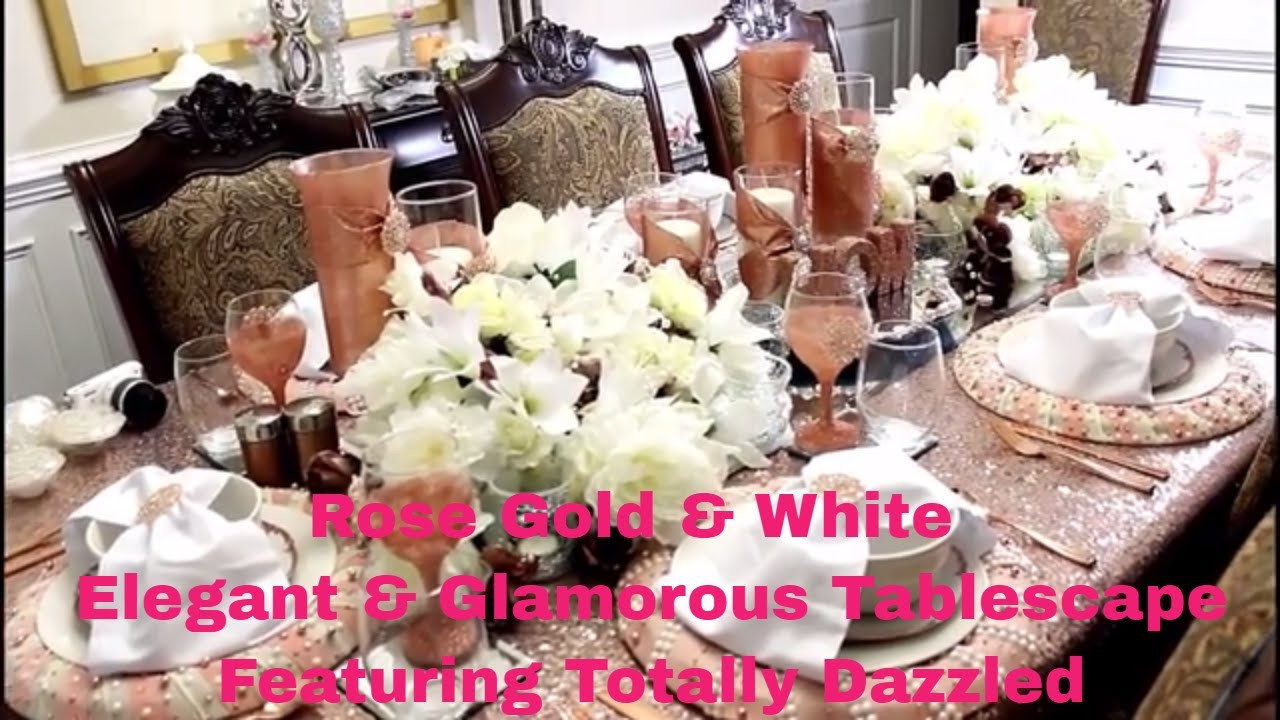 rose gold crackle vase of rose gold white elegant glamorous tablescape feat totally regarding rose gold white elegant glamorous tablescape feat totally dazzled brooches