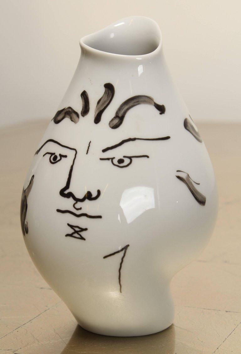 rosenthal vases for sale of jean cocteau vase for rosenthal 1952 at 1stdibs intended for mid century modern jean cocteau vase for rosenthal 1952 for sale