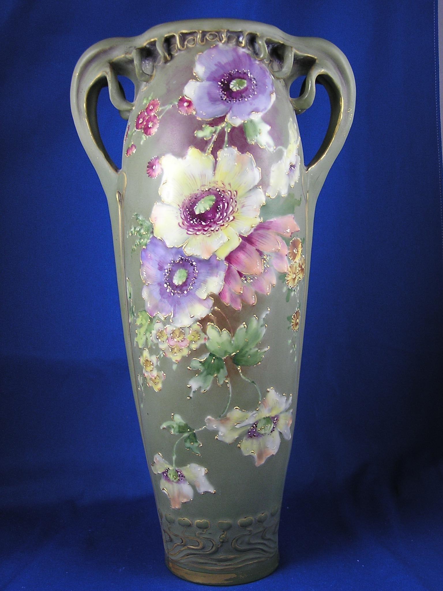 roseville blue vase of clay vase designs image rstk amphora austria art nouveau enameled in clay vase designs image rstk amphora austria art nouveau enameled floral design vase c 1899